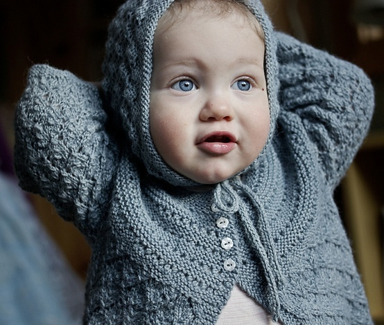 The Fiber Company - Free pattern Lucille. Baby Cardigan.